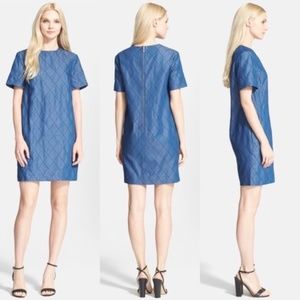Kate Spade Quilted Chambray Denim Shift Dress